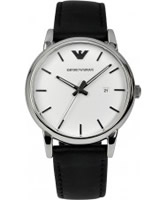 Buy Emporio Armani Mens White and Black Luigi Watch online