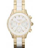 Buy DKNY Ladies Brooklyn  Chronograph Two Tone Bracelet Watch online
