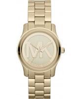 Buy Michael Kors Ladies Gold Runway Watch online