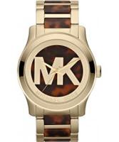 Buy Michael Kors Ladies Tortoise and Gold Runway Watch online