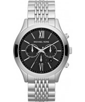 Buy Michael Kors Mens Silver Brookton Chronograph Watch online