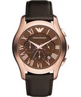 Buy Emporio Armani Mens Brown New Valente Watch online