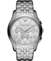 Buy Emporio Armani Mens Silver New Valente Watch online