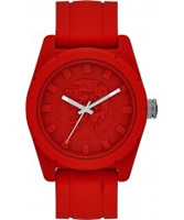 Buy Diesel Mens Rubber Company Red Silicone Strap Watch online