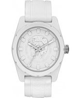 Buy Diesel Mens Rubber Company White Silicone Strap Watch online