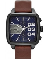 Buy Diesel Mens Square Franchise Chrono Brown Watch online