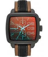 Buy Diesel Mens Square Franchise Chrono Tan Watch online