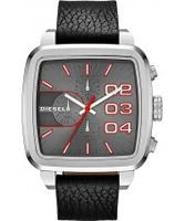 Buy Diesel Mens Square Franchise Chrono Black Watch online