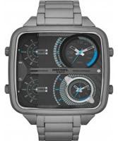 Buy Diesel Mens Square Daddy Chrono Gunmetal Bracelet Watch online