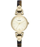 Buy Fossil Ladies Tortoise and Gold Georgia Watch online