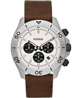 Buy Fossil Mens Brown Retro Traveller Chronograph Watch online