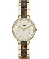 Buy Fossil Ladies Tortoise and Gold Virginia Watch online