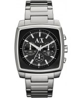 Buy Armani Exchange Mens Black Silver Stockton Smart Watch online