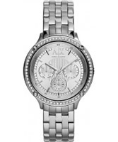 Buy Armani Exchange Ladies Silver Capistrano Active Watch online