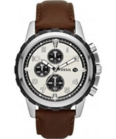Buy Fossil Mens Brown Dean Chronograph Watch online