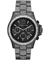 Buy Michael Kors Ladies Black Everest Stone Set Watch online
