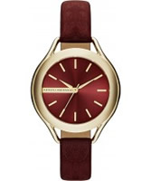 Buy Armani Exchange Ladies Burgundy Allete Dress Watch online