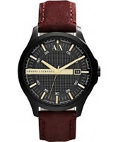 Buy Armani Exchange Mens Black Burgundy Hampton Smart Watch online