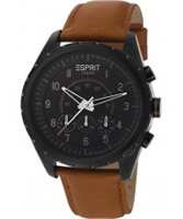 Buy Esprit Mens Colossal Chronograph Brown Watch online