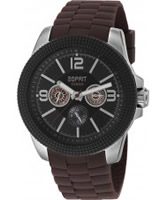 Buy Esprit Mens Clash Black Brown Watch online