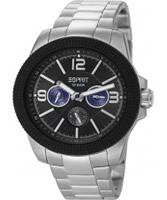 Buy Esprit Mens Clash Black Silver Watch online