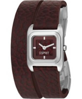 Buy Esprit Ladies Gavity Dark Red Watch online