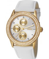 Buy Esprit Ladies Peona Gold White Watch online
