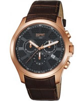 Buy Esprit Mens Kratos Black Brown Watch online
