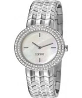 Buy Esprit Ladies Moonlite Silver Crystals Set Watch online