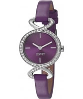 Buy Esprit Ladies Fontana Soft Crystal Purple Watch online