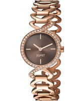Buy Esprit Ladies Fontana Crystal Rose Gold Watch online