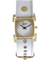 Buy Levis Ladies White Leather Strap With White Dial Watch online