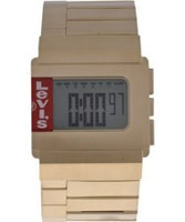 Buy Levis Unisex Digital Gold Plated Steel Bracelet Chronograph Watch online