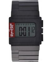 Buy Levis Unisex Digital Black Ip Steel Bracelet Chronograph Watch online