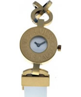 Buy Levis Ladies White Dial Gold Plated Steel Case Strap Watch online