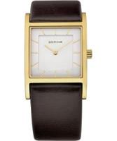 Buy Bering Time Ladies White Brown Watch online