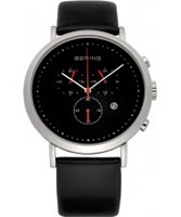 Buy Bering Time Mens Black Chronograph Watch online