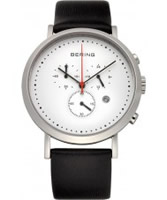 Buy Bering Time Mens White Chronograph Watch online