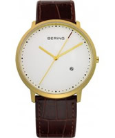 Buy Bering Time Mens White Brown Watch online