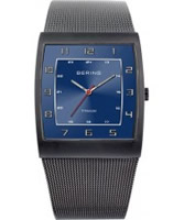 Buy Bering Time Mens Blue Mesh Watch online