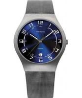 Buy Bering Time Mens Blue Grey Watch online