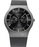 Buy Bering Time Mens Grey Multifunction Watch online