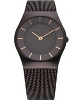 Buy Bering Time Ladies All Brown Mesh Watch online