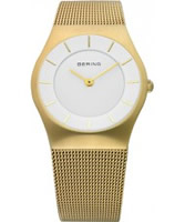 Buy Bering Time Silver Gold Mesh Watch online