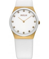 Buy Bering Time Ladies Ceramic White Calfskin Watch online