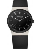 Buy Bering Time Ceramic Black Calfskin Watch online