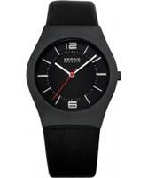Buy Bering Time Ceramic Black Calfskin Watch online
