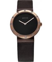 Buy Bering Time Ladies Brown Mesh Watch online