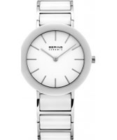 Buy Bering Time Ladies White and Silver Ceramic Watch online