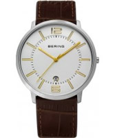 Buy Bering Time Mens White Brown Watch online